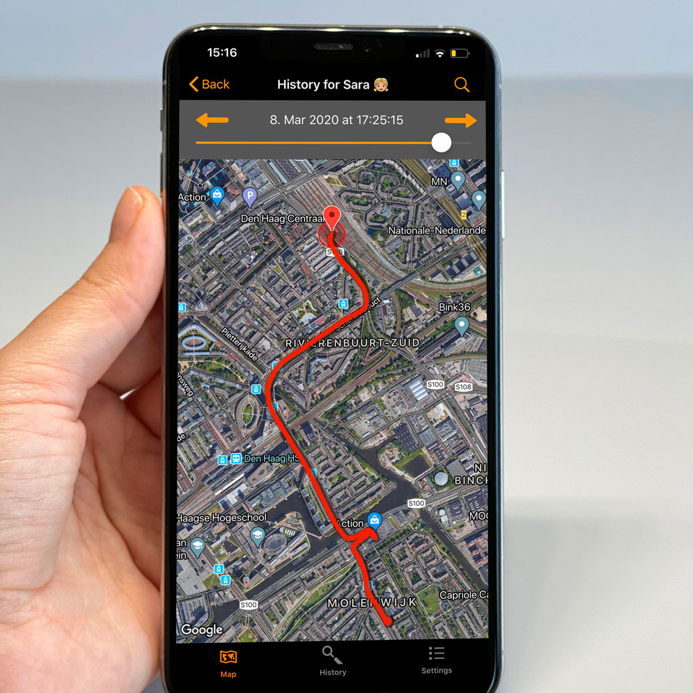 ODIN app realtime tracking